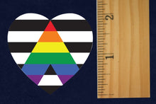 Load image into Gallery viewer, 500 Straight Ally Allies LGBTQ Gay Pride Heart Stickers (500 Stickers) - Fundraising For A Cause