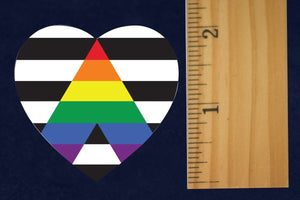 500 Straight Ally Allies LGBTQ Gay Pride Heart Stickers (500 Stickers) - Fundraising For A Cause