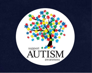 500 Support Autism Awareness Tree Stickers (500 Autism Stickers) - Fundraising For A Cause