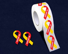 Load image into Gallery viewer, 500 Small Coronavirus Disease (COVID-19) Awareness Ribbon Stickers (500 Stickers)