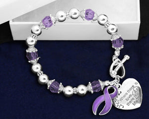 Pancreatic Cancer Awareness Charm Bracelets - Fundraising For A Cause
