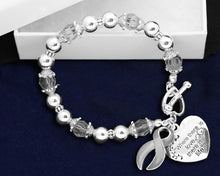Load image into Gallery viewer, Brain Cancer Awareness Ribbon Bracelets - Fundraising For A Cause