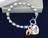 12 Uterine Cancer Awareness Charm Bracelets (12 Bracelets)