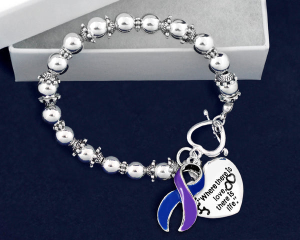 12 Pediatric Stroke Awareness Charm Bracelets (12 Bracelets)