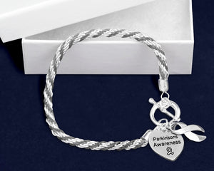 Parkinson's Silver Ribbon Rope Bracelets - Fundraising For A Cause