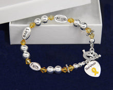 Load image into Gallery viewer, Gold Ribbon Cancer Survivor Bracelets - Fundraising For A Cause