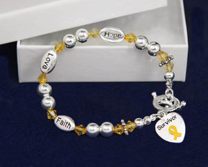 Gold Ribbon Cancer Survivor Bracelets - Fundraising For A Cause