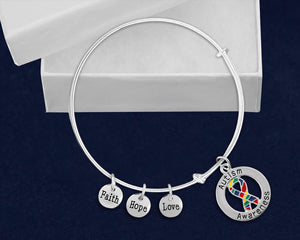 Round Autism Awareness Ribbon Retractable Bracelets - Fundraising For A Cause