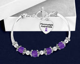 12 Fibromyalgia Awareness Partial Beaded Bracelets (12 Bracelets)