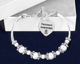 12 Parkinson's Awareness Partial Beaded Bracelets (12 Bracelets)