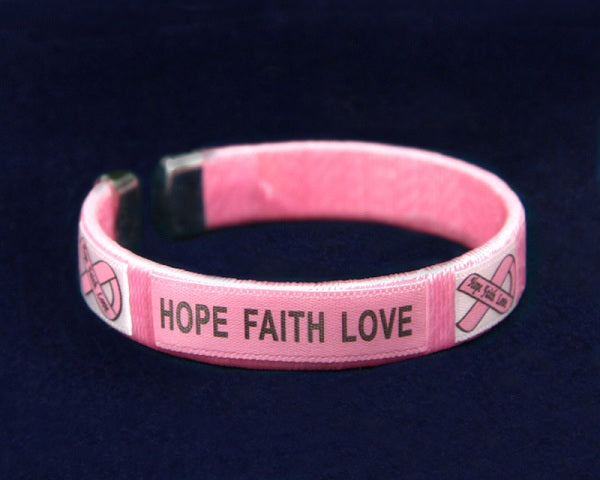 25 Breast Cancer Awareness Bangle Bracelets (25 Bracelets)
