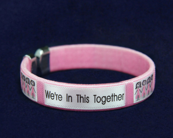 25 Breast Cancer Awareness Bracelets - Were In This Together  (25 Bracelets)