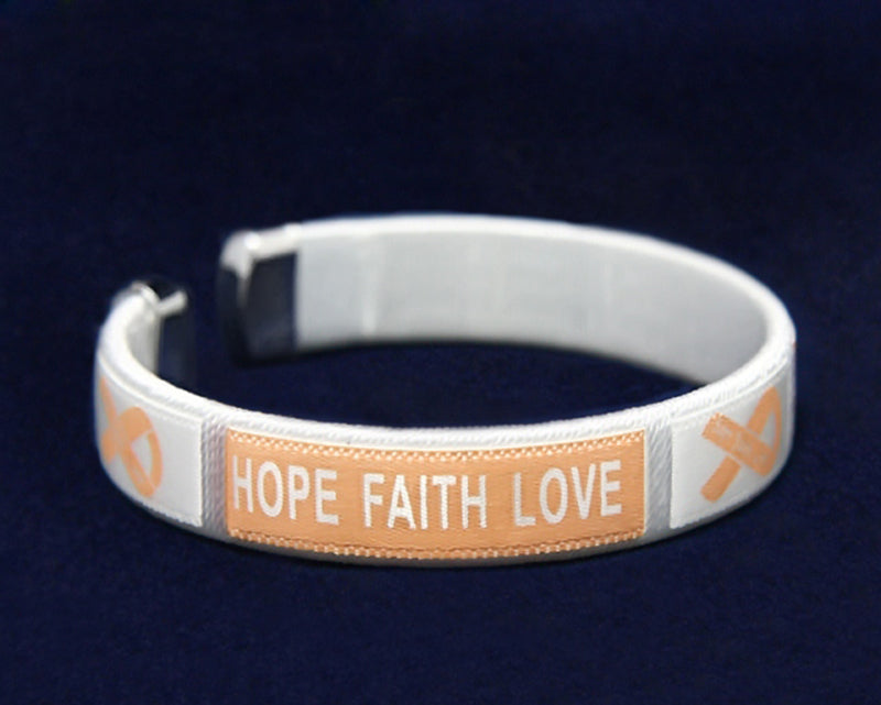 Peach Ribbon Bracelets Child Size - Fundraising For A Cause