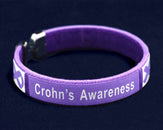 25 Crohn's Disease Awareness Bangle Bracelets (25 Bracelets)