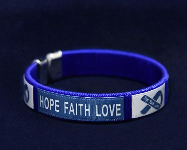 Bangle Dark Blue Ribbon Bracelets - Fundraising For A Cause