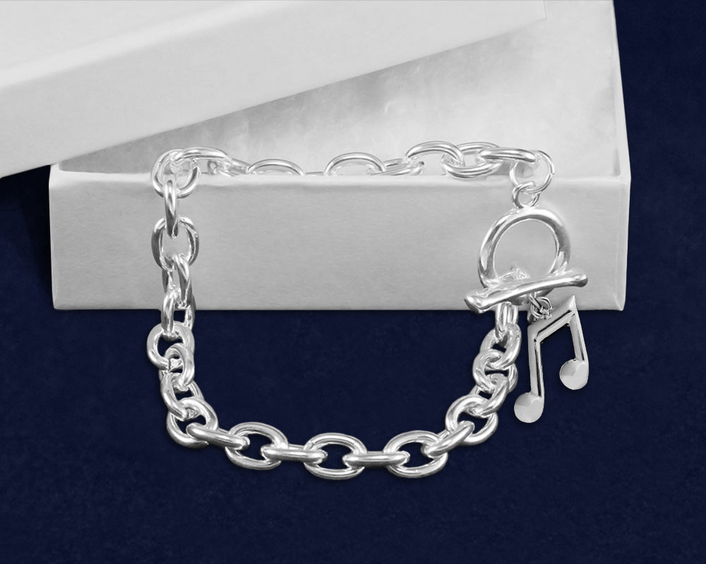Music Note Chunky Charm Bracelets, Fundraising Jewelry - Fundraising For A Cause