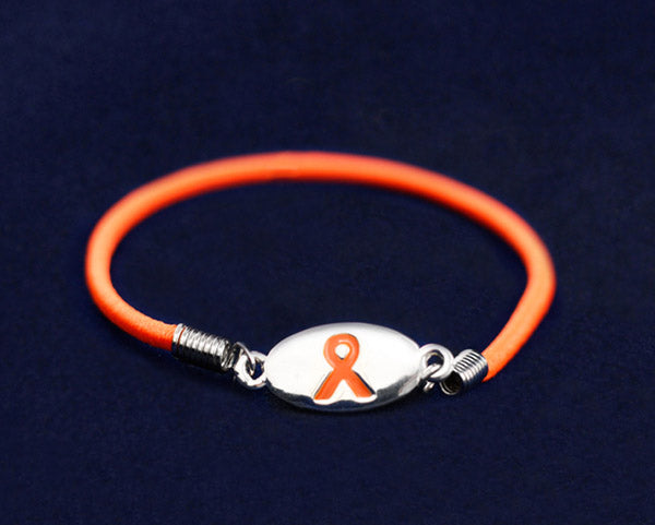 25 Kidney Cancer Ribbon Stretch Bracelets (25 Bracelets)
