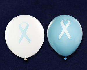 25 Light Blue Ribbon Balloons (25 Balloons)