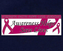 Load image into Gallery viewer, Burgundy Ribbon Awareness Banner