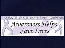 Load image into Gallery viewer, Lavender Ribbon Awareness Banner