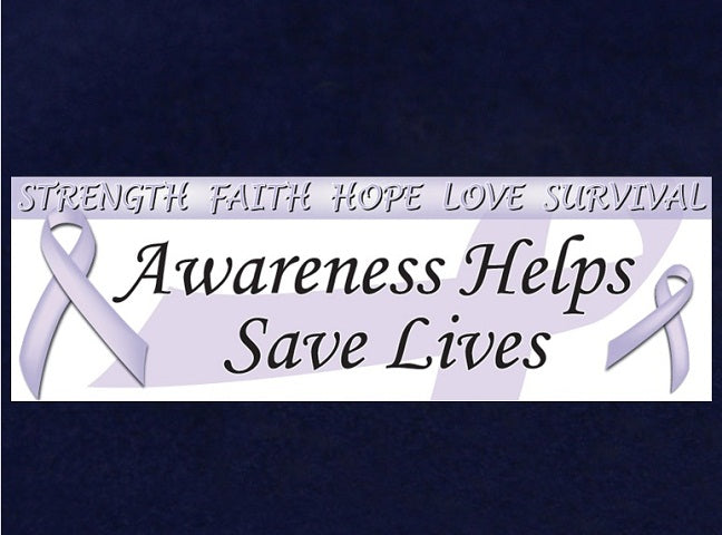 Lavender Ribbon Awareness Banner