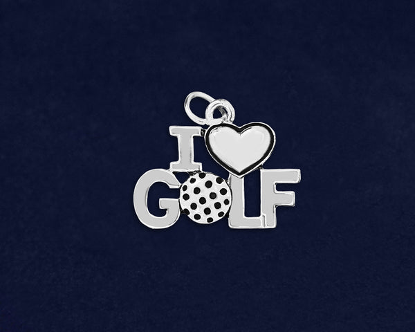 25 I Love Golf Charms (25 Charms)