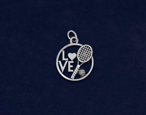 25 Love Tennis Charms (25 Charms)