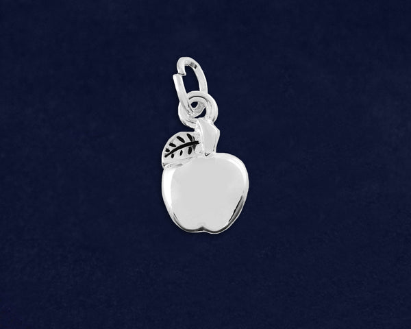 25 Apple Shaped Charms (25 Charms)