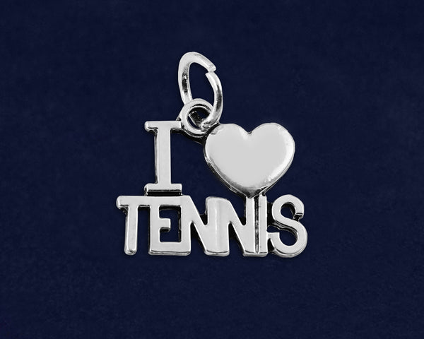 25 I Love Tennis Charms (25 Charms) - fundraisingforacausecom