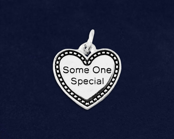 10 Some One Special Heart Charms (10 Charms)