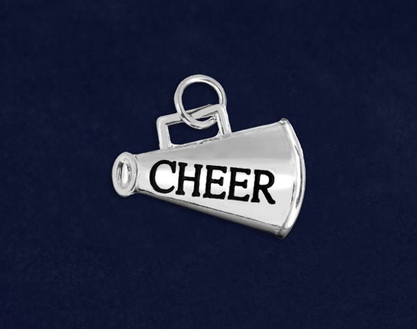 25 Cheerleading Megaphone Charms (25 Charms)