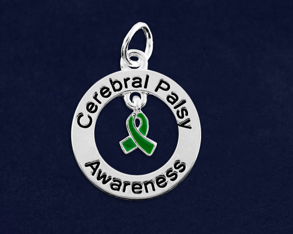 10 Cerebral Palsy Circle Charms (10 Charms)