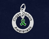 10 Organ Donors Circle Charms (10 Charms)