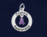 10 Crohn's Disease Circle Charms (10 Charms)