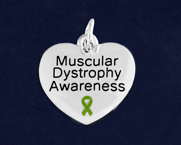 Muscular Dystrophy Awareness Heart Charm - fundraisingforacausecom
