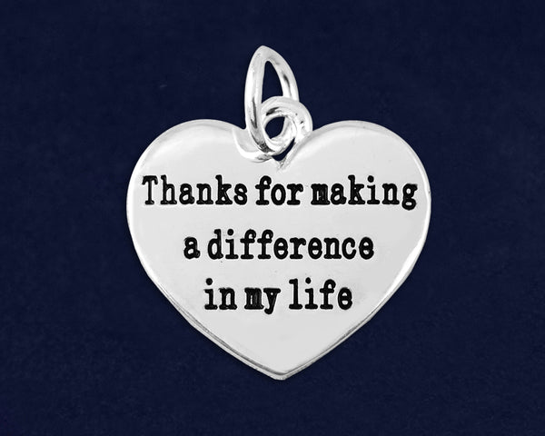 10 Thanks For Making A Difference Charms (10 Charms)