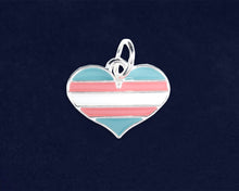 Load image into Gallery viewer, Transgender Heart Pride Charms - Fundraising For A Cause