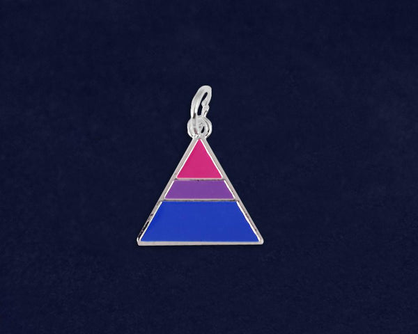 25 Triangle Bisexual Charms (25 Pride Charms)