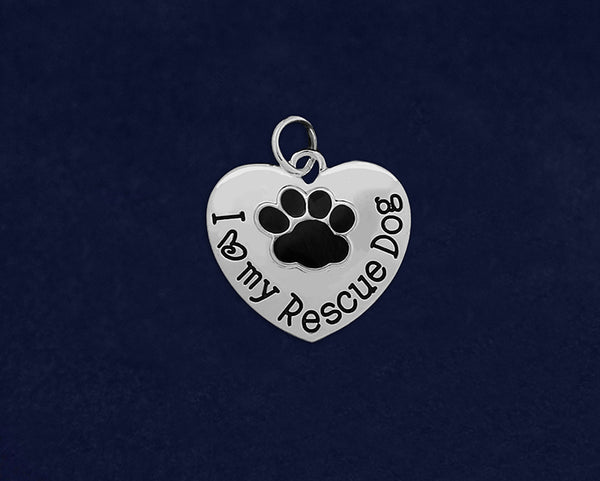 25 I Love My Rescue Dog Charms (25 Charms)