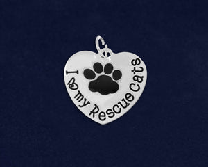 25 I Love My Rescue Cats Charms (25 Charms)