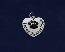 Load image into Gallery viewer, 10 I Love My Rescue Dogs Charms (10 Charms)