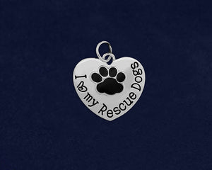 10 I Love My Rescue Dogs Charms (10 Charms)