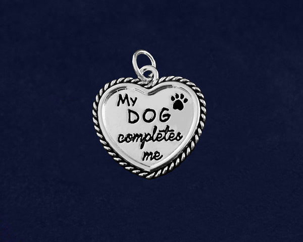 25 My Dog Completes Me Charms (25 Charms)