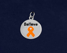 Load image into Gallery viewer, Circle Believe Orange Ribbon Charms - Fundraising For A Cause