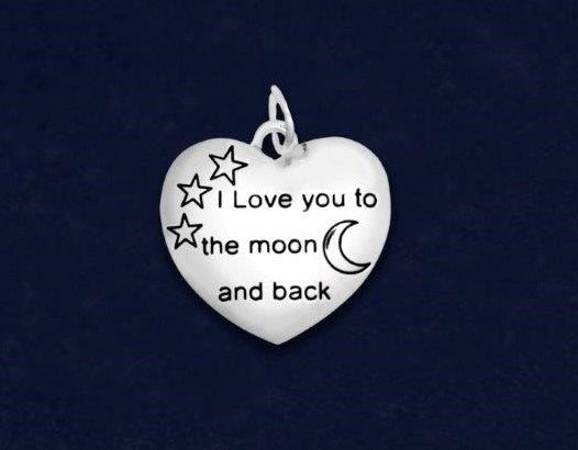 25 I Love You To The Moon And Back Charms (25 Charms)
