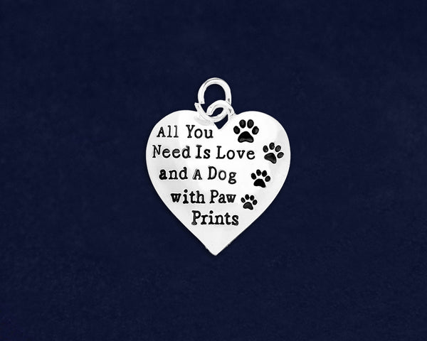 25 All You Need Is Love Dog Charms (25 Charms)