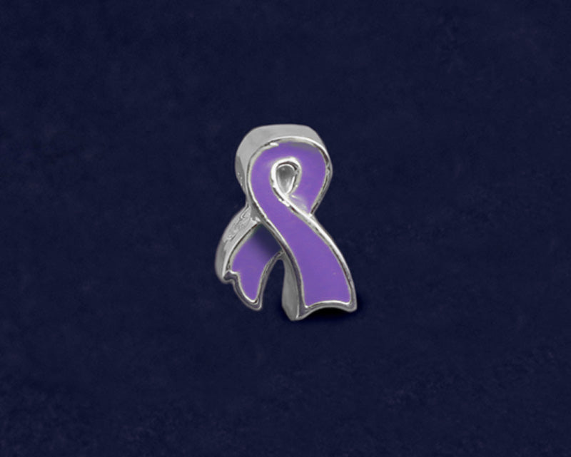 Purple Ribbon Shaped Charms - Fundraising For A Cause