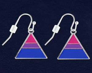 Triangle Bisexual Hanging Earrings - Fundraising For A Cause