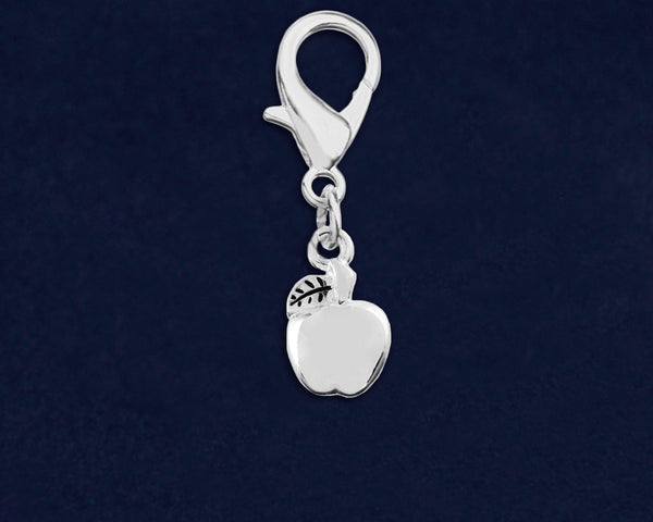 Silver Apple Shaped Hanging Charm