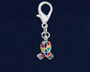 Small Autism Ribbon Hanging Charms - Fundraising For A Cause